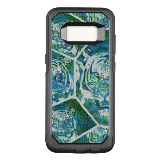 Blue Green Tiger Collage OtterBox Commuter Samsung Galaxy S8 Case