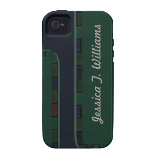 Blue Green Tile Border Case For The iPhone 4