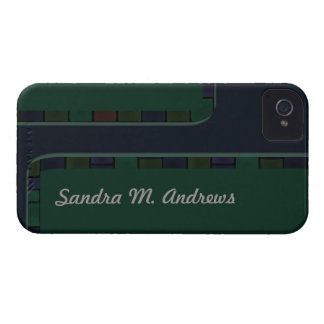 Blue Green Tile Border Case-Mate iPhone 4 Case