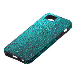 Blue-Green Tones Snakeskin Leather Pattern Look iPhone 5 Cases