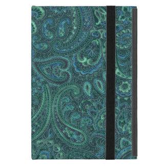 Blue-Green Tones Vintage Paisley iPad Mini Case
