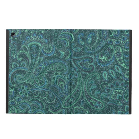 Blue-Green Tones Vintage Paisley Pattern Case For iPad