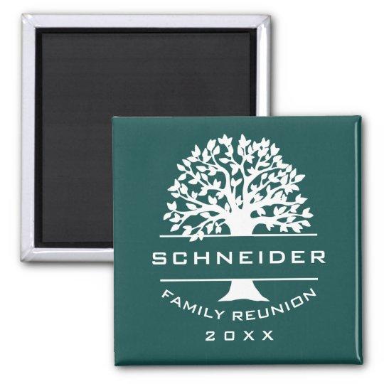 Blue Green Tree Family Reunion Keepsake Gift Magnet