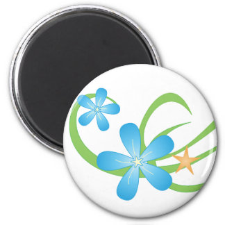 Blue Green Tropical Magnets