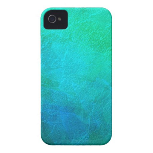 Blue Green Turquoise Abstract Background Art iPhone 4 Cover