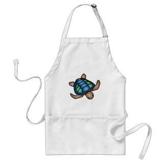 Blue Green Turtle Apron