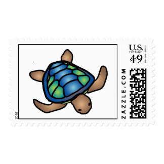 Blue Green Turtle Stamp Postage