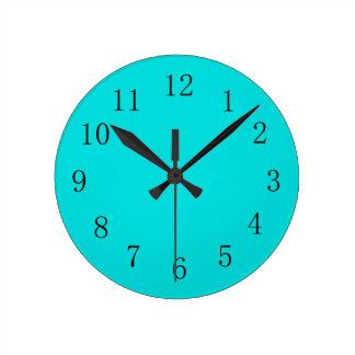 Blue Green Wall Clock