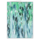 Blue & Green Watercolor Abstract - Blank Card