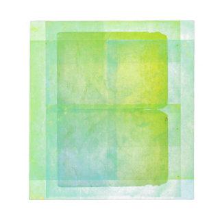 Blue Green Watercolor Sheets Notepad