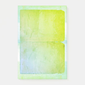 Blue Green Watercolor Sheets Post-it Notes