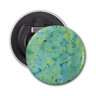 Blue & Green Watercolour Splat Bottle Opener