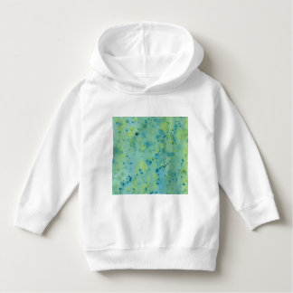 Blue & Green Watercolour Splat Hoodie
