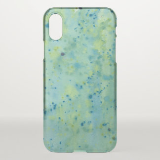 Blue & Green Watercolour Splat iPhone X Case