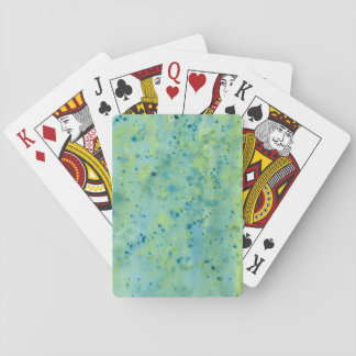 Blue & Green Watercolour Splat Playing Cards
