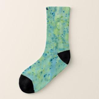 Blue & Green Watercolour Splat Socks