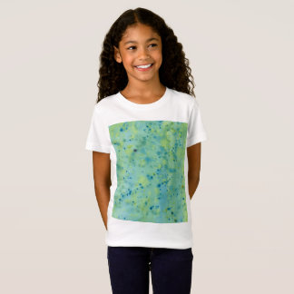 Blue & Green Watercolour Splat T-Shirt
