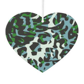 Blue Green White Cheetah Abstract