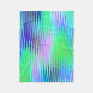 Blue Green Zig Zag Fleece Blanket