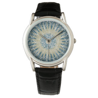 Blue Grey and Taupe Boho Design Watch