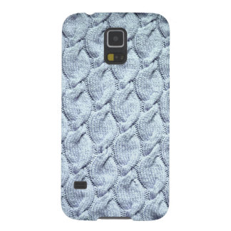 Blue-grey big knitted cables galaxy s5 case