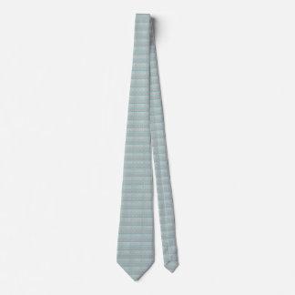Blue Grey Blocks Pattern, Tie