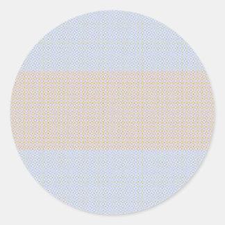 Blue Grey Brown Pastel pattern Round Sticker