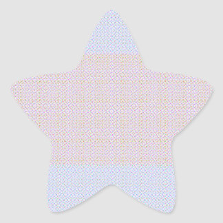Blue Grey Brown Pastel pattern Star Sticker