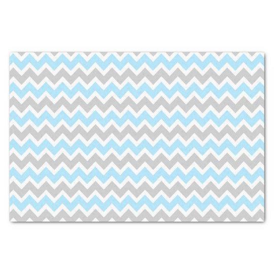 Blue Grey Chevron tissue paper / boy baby