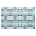 Blue Grey Cream & White Coastal Fabric 'Anchorage