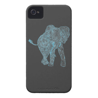 Blue/Grey Elephant iPhone 4 Case