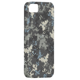 Blue Grey iPhone 5 digital camo case