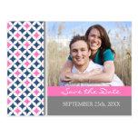 Blue Grey Photo Save the Date Wedding Postcards