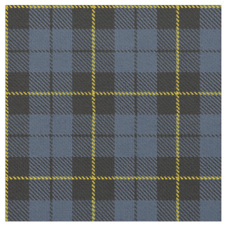 Blue/Grey plaid yellow/gold/black stripe Fabric