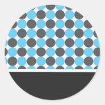 Blue & Grey  Polka Dots  Wedding Stickers