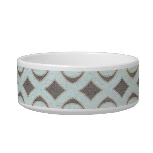 Blue Grey Tan Diamond Bowl