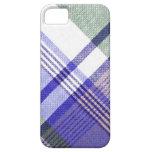 Blue Grey Tartan Plaid Case iPhone 5 Case