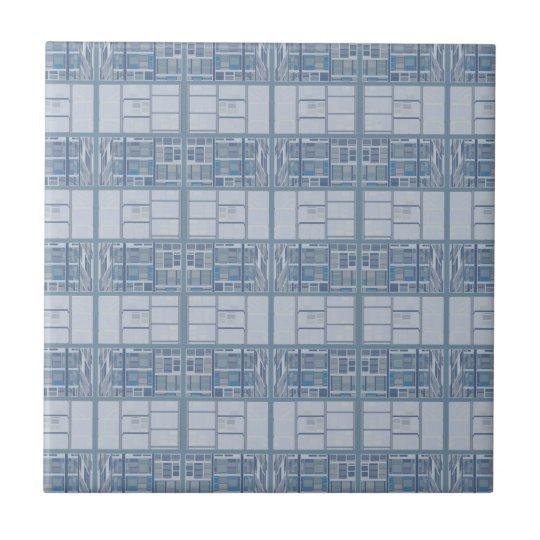 Blue Grey Textured Stripe Tile