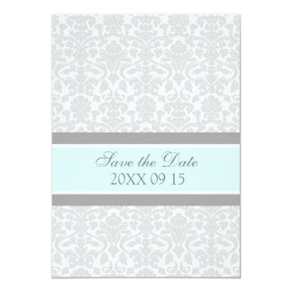 Blue Grey Wedding Save the Date Card 13 Cm X 18 Cm Invitation Card