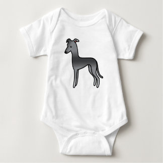 Blue Greyhound / Whippet Baby Bodysuit