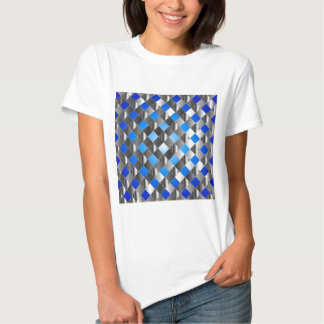 Blue grid background t shirt