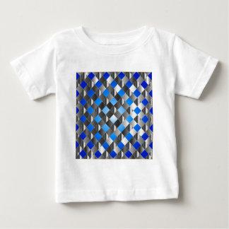 Blue grid background t-shirts