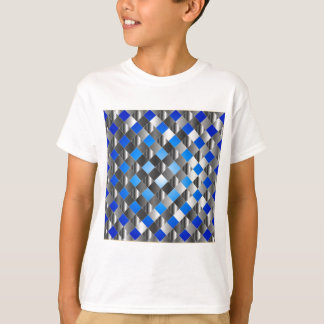 Blue grid background tee shirts