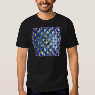 Blue grid background tshirts