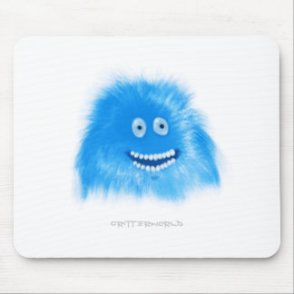 Blue Grinning Critter Mouse Pad