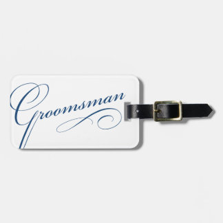Blue groomsman elegant bachelor luggage tag