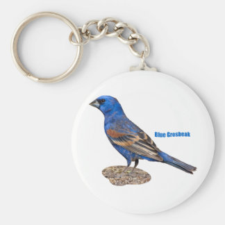 Blue Grosbeak Key Ring