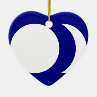Blue Ground White Sun And Moon, China flag Christmas Ornament
