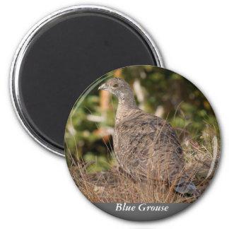 Blue Grouse 6 Cm Round Magnet