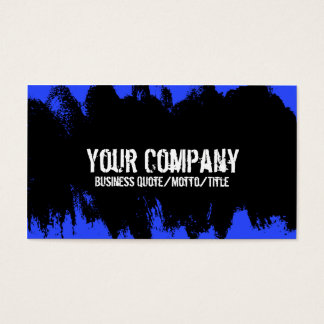 Blue Grunge Business Card